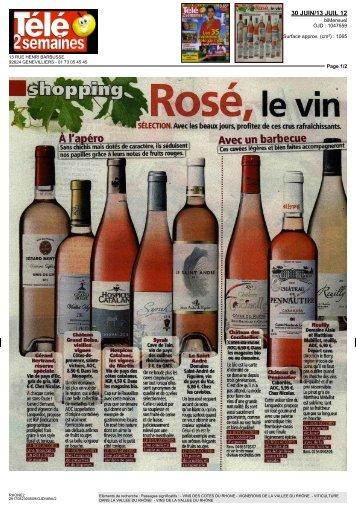 """Télé2 semaines """"Rosé, le vin star de l'été"""" - Les Vins Luberon"""