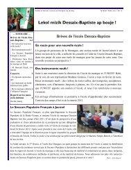 Newsletter # 10 - Ecole de Musique Dessaix-Baptiste