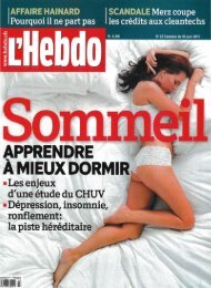 l'Hebdo cover - Laura Moser