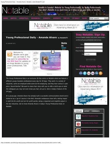 Amanda Alvaro | Notable | www.NotableTV.com - Bensimon Byrne