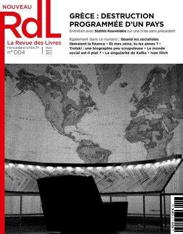 grèce : destruction programmée d'un pays - RdL La Revue des Livres