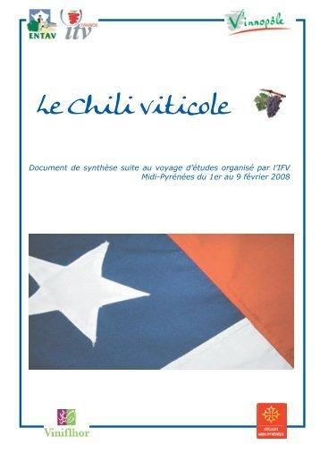 Le Chili viticole - Institut Français de la Vigne et du Vin Sud-Ouest