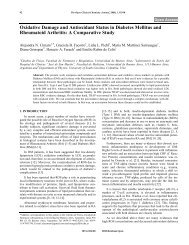 Oxidative Damage and Antioxidant Status in ... - Bentham Science