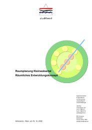 Raumplanung Kleinwalsertal Räumliches Entwicklungskonzept