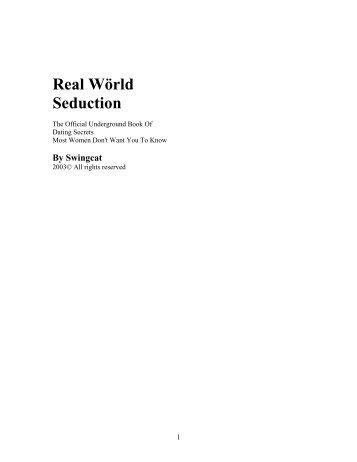 Real Wörld Seduction - McGill Physics