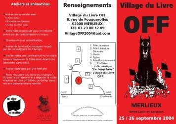 Village du Livre OFF MERLIEUX - Indymedia Nantes