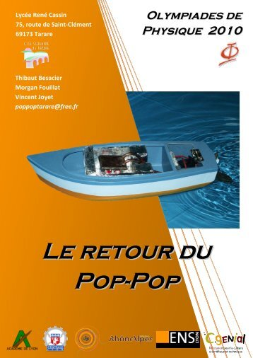 Le retour du pop-pop - Olympiades de Physique France
