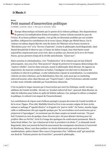 Télécharger un extrait .pdf - Éditions Lignes