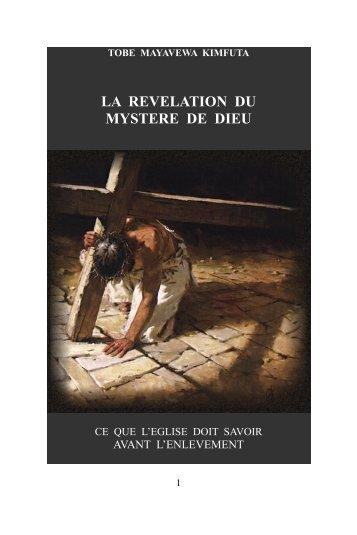 La Révélation du mystère de Dieu - GEDEONCHAMPION