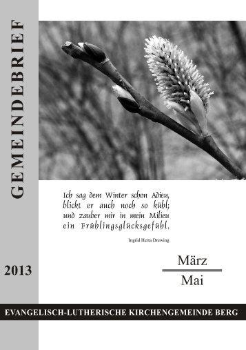 Gemeindebrief März - Mai 2013.pdf - Evang.-Luth. Kirchengemeinde ...