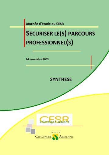 securiser le(s)parcours professionnel(s) - CESER Champagne ...