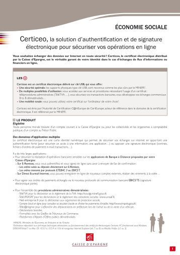 Certiceo, la solution d'authentification et de ... - Caisse d'épargne