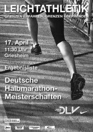 35. Deutsche Straßenlaufmeisterschaften ... - Leichtathletik.de