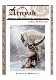 XII. évfolyam 1. szám Árnyak 2012. Imbolc - XII. évfolyam 1. szám