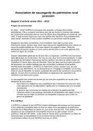 Association de sauvegarde du patrimoine rural jurassien - aspruj