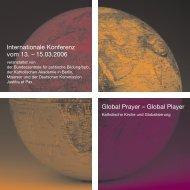 Global Player Internationale Konferenz vom 13. – 15.03.2006