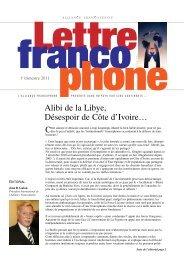 Premier trimestre 2011 - Alliance francophone