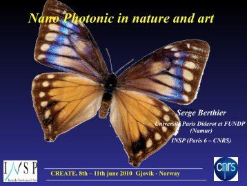 Nano Photonic in Nature and Art: A brief overview - Create!