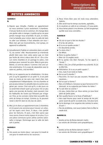 Les transcriptions de Nouveau Rond-Point 2 - Editions Maison des ...