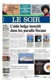 L'aide belge s'envole dans les paradis fiscaux - Fonds pour le ...