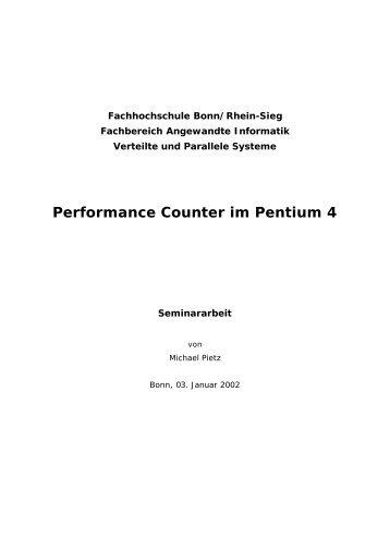 Performance Counter im Pentium 4