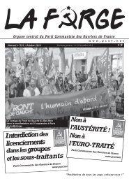 N° 533 Octobre 2012 - Parti Communiste des Ouvriers de France