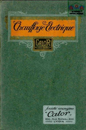 calor 1923 catalogue - Ultimheat