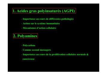 AGPI - Lipides et signalisation cellulaire