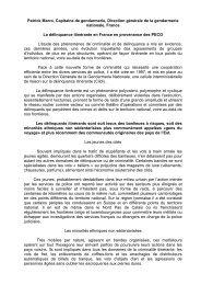 Patrick Marro, Capitaine de gendarmerie, Direction générale de la ...