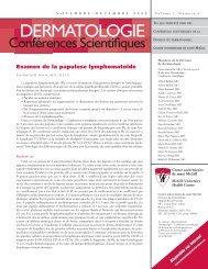 Examen de la papulose lymphomatoïde - Dermatologie conférences ...