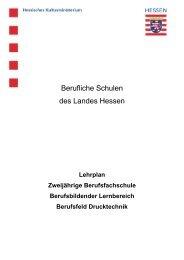 Berufsfeld Drucktechnik - Berufliche Bildung in Hessen