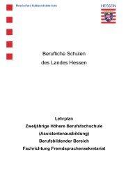 Fachrichtung Fremdsprachensekretariat - Berufliche Bildung in ...