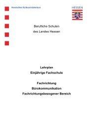 Fachrichtung Bürokommunikation - Berufliche Bildung in Hessen