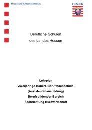 Fachrichtung Bürowirtschaft - Berufliche Bildung in Hessen
