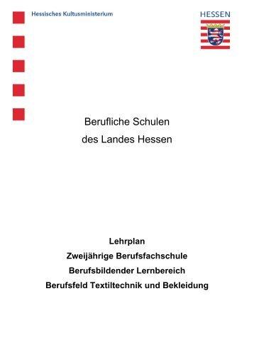 Berufsfeld Textiltechnik und Bekleidung - Frankfurter Schule für ...
