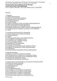 Verordnung über die Ausbildung und die Prüfungen an den ...