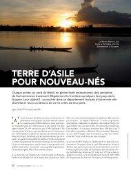 En Guyane (article de presse) - Harpet