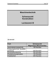 Lernbereich III / Konstruktionstechnik - Berufliche Bildung in Hessen