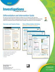 Differentiation and Intervention Guide NEW! - Pearson