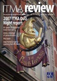 2007 ITMA Quiz Night report