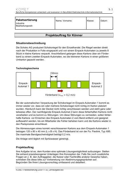 Paketsortierung - Berufliche Bildung in Hessen