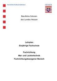 Fachrichtung Mal- und Lackiertechnik - Berufliche Bildung in Hessen