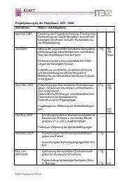 Projektplanung für die Pilotphase I - Berufliche Bildung in Hessen
