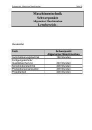 Lernbereich III / Allgemeiner Maschinenbau - Berufliche Bildung in ...