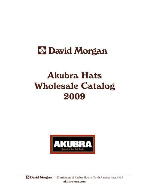 aedb4e6b Akubra-USA Wholesale Catalog -- David Morgan - Akubra Hats