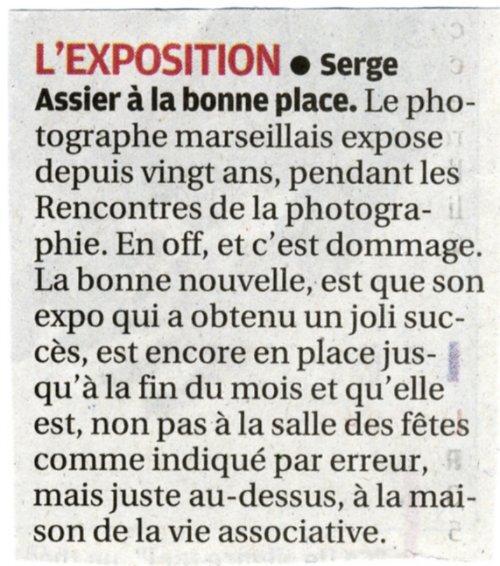 Vu dans la presse - Serge Assier