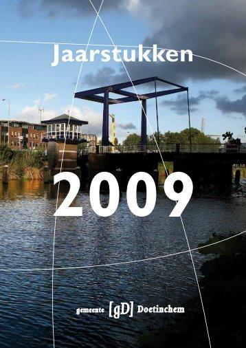 Jaarstukken 2009 - Bestuurlijke informatie van de gemeente ...