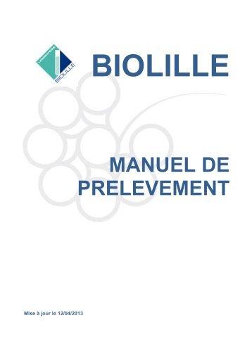 Manuel de prélèvement - Biolille