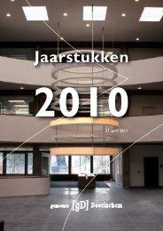 Boekwerk Jaarstukken 2010 - Bestuurlijke informatie van de ...