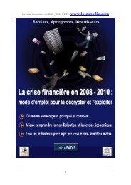 La crise financière en 2008 / 2010 PDF – www ... - Loïc ABADIE